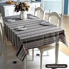 Christmas Tablecloth Printed Rectangle Table Lines