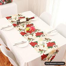 Christmas Tablecloth Printed Table Lines Christmas
