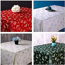 Christmas Tablecloth (Red, 160x180 cm oval)