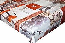 Christmas Tartan Reindeer PVC Vinyl Oilcloth