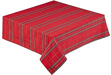 Christmas Tartan Tablecloth 68 inch Round (173 cm)