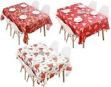 Christmas-Themed Tablecloth: Christmas Flowers