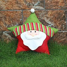 Christmas Throw Pillow Cushion, 3D Christmas Santa