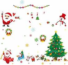 Christmas Tree Decoration Glass Sticker Christmas