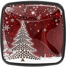 Christmas Tree Design [4 PCS]Decorative Cabinet