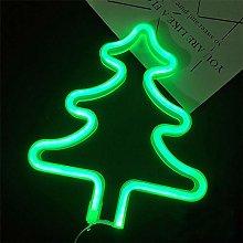 Christmas Tree LED Neon Sign Art Decorative Lights