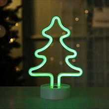 Christmas Tree Neon Signs Light with Base Green