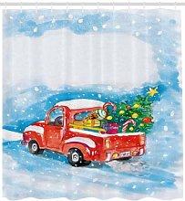 Christmas truck winter landscape High-definition