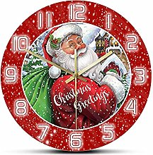 Christmas Vintage Clause Wall Clock For Kids