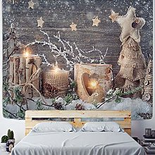 Christmas wall hanging hippie fireplace home