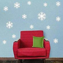 Christmas White Snowflakes Sticker Windows Glass