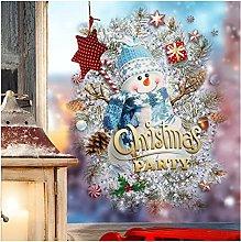 Christmas window stickers 1Pcs Christmas Wall