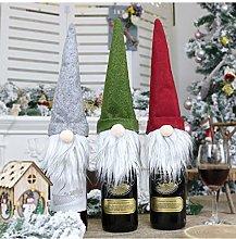 Christmas Wine Bottle Topper Cover White Beard