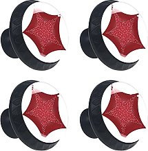 Christmas with a Twinkling red Star 4PCS Round