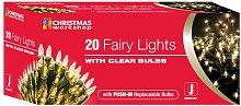 Christmas Workshop Shadeless Fairy Lights (String