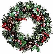Christmas Wreath - 60CM Door Hanging with Frost