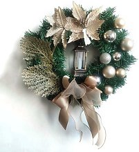 Christmas Wreath Artificial Flowers 38cm Christmas