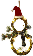 Christmas Wreath Door String with LED Light,