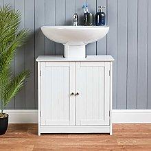 CHRISTOW White Under Sink Bathroom Cabinet, Free