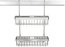 Chrome 2 Tier 10-Jar Wall-Mounted Spice Rack