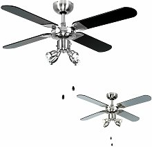 Chrome 42' Ceiling Fan With Spot Lights &