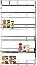 Chrome 6 Tier 48 Jars Spice Herb Jar Rack Holder