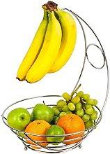 Chrome Banana Hanger Tree Holder Fruit Bowl Stand