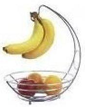 Chrome Banana Hook Stand Tree & Fruit Bowl