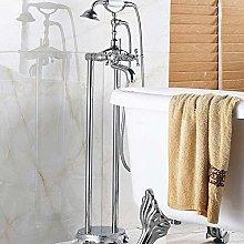 Chrome Floor Stand Bath & Shower Phone Type Faucet