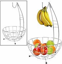 CHROME HANGING FRUIT BOWL VEGETABLE BASKET HOOK