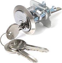 Chrome Nightlatch Replacement Cylinder & 3 Keys -