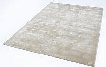 Chrome Pearl Rectangle Plain/Nearly Plain Rug