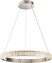 Chrome Pendant Light with Crystals & Ring - Celeste