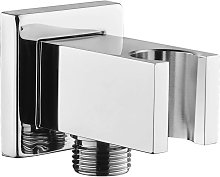 Chrome pipe fitting with hand shower holder, 1/2