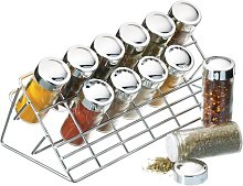 Chrome Plated 13 Piece Spice Rack Set KitchenCraft