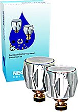 Chrome Plated Tap Conversion Kit, Silver, 0.5 and