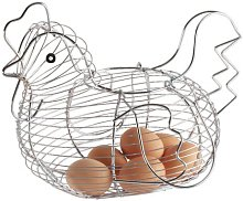 Chrome Plated Wire Large Chicken Basket