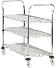 Chrome Plated Wire Trolleys (200kg Capacity),