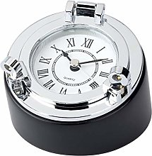 Chrome Porthole Desk Clock