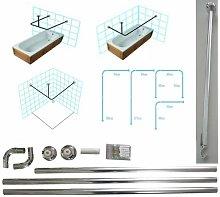 Chrome Shower Curtain Rail/Rod, 4 way use,L
