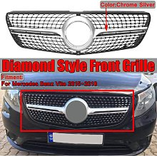 Chrome Silver Diamond Grill Front Mesh Grill