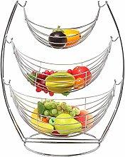 Chrome Silver Hammock Fruit Vegetables Produce