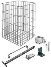 Chrome Wire Laundry Basket Set for Tilting