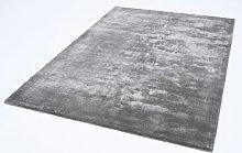 Chrome Zinc Rectangle Plain/Nearly Plain Rug