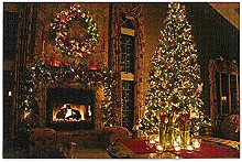 Chrtistmas Tree Fireplace Puzzles for Adults 1000