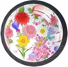 Chrysanthemum Rose B3 4 Pieces Crystal Glass