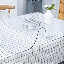 CHSDN The transparent tablecloth is easy to clean,