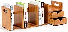CHSEEA Bamboo Expandable Desk Organiser Bookshelf