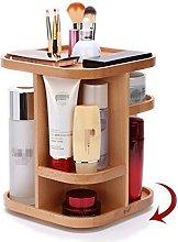 CHSEEA Real Wood Makeup Organiser, 360° Rotating