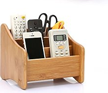 CHSEEA Real Wood Remote Control Holder Desk